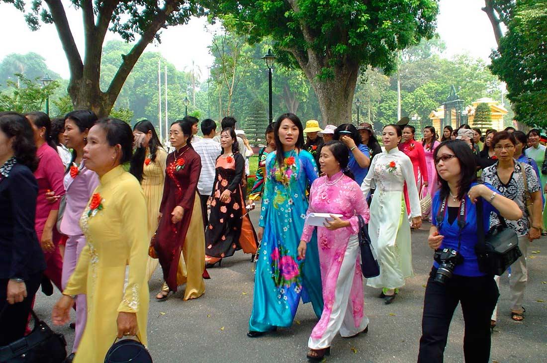 Вьетнамский костюм Ao Dai