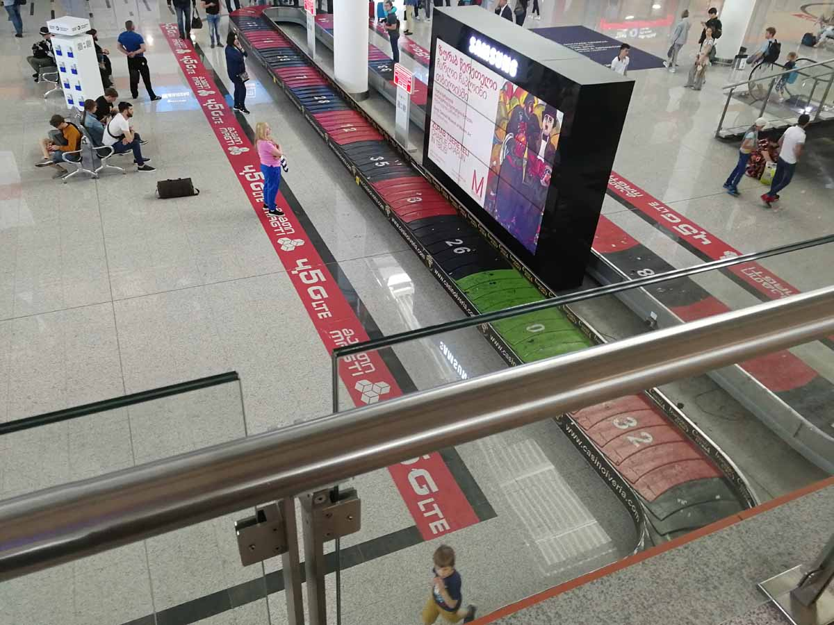 Аэропорт Тбилиси - зал ожидания