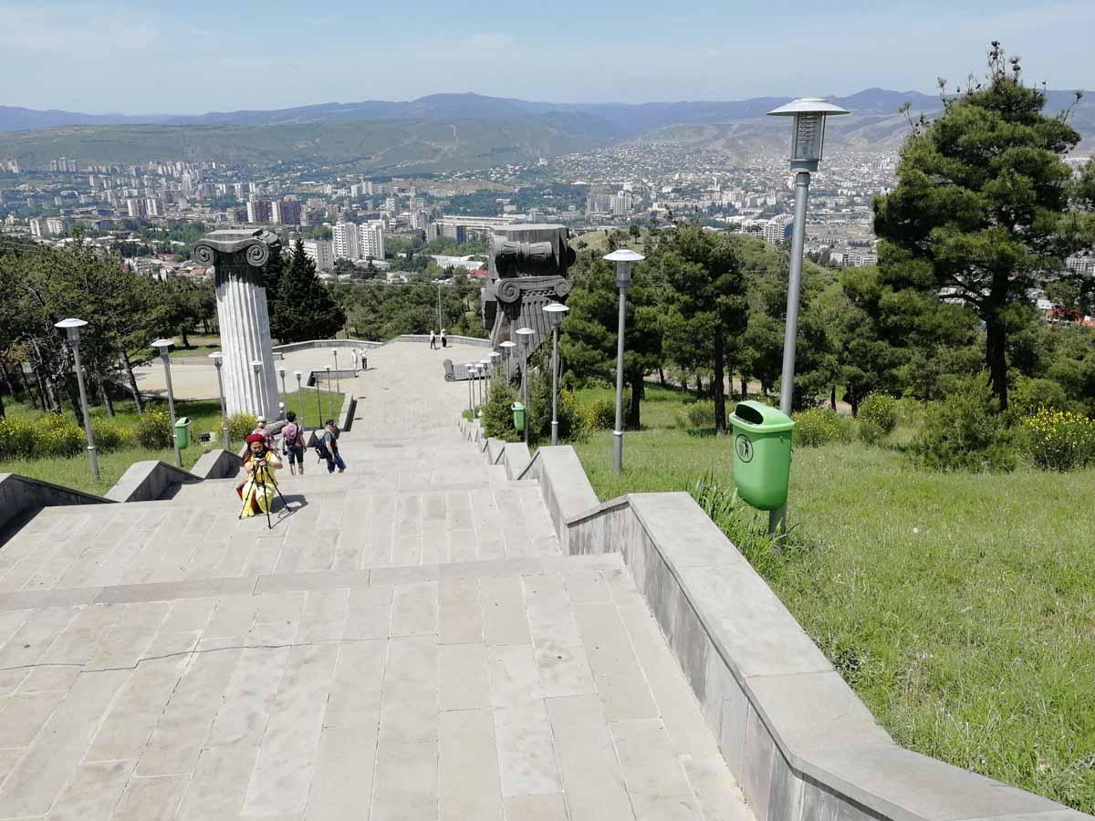 Вид на Тбилиси с горы Кениси