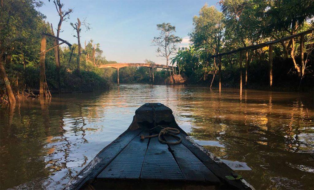 по дельте реки Меконг